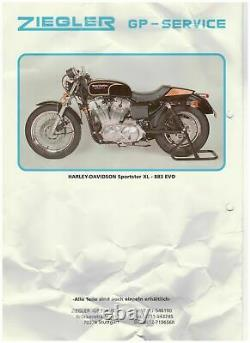 1340 ccm³ Harley XL Sportster EVO Zylinder Tuning Kit laut Prospekt schwarz