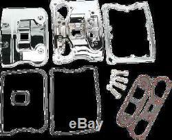 1 Drag Specialties Chrome EVO Big Twin Rocker Box Kit 84-91 Harley Dyna Touring