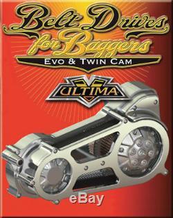 2 Open Belt Ultima Primary Drive Kit For Harley Bagger Flt Fxr Flt Evo Twin Cam