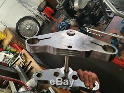6 Degree Rake Triple Tree Kit Yokes Harley Davidson Wide Glide 41mm Evo chopper