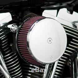 Arlen Ness Stage 1 Air Filter Chrome Cover Big Sucker Kit Harley Evo 93-00 Carb