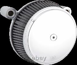 Arlen Ness Stainless Steel Chrome Big Sucker Air Cleaner Kit 93-99 Harley Evo