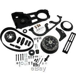BDL Black Anodized 2 Open Primary Billet Belt Drive Kit Harley Touring 90-06
