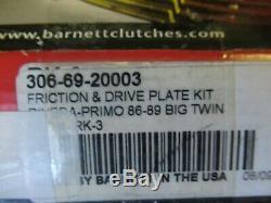 Barnett Friction + Steel Clutch Kit Harley Evo 1986-89 Rivera Primo Belt Drive