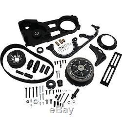 Belt Drives LTD EVO-220-B Black 2 Open Belt Drive Kit Harley FL Touring 90-06