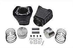 Black 3 5/8 88 Big Bore Kit Cylinder Piston Set Cylinders Harley Evolution EVO
