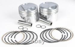 Cast Piston Kit EVO 80CI 10.51 +. 010 KB Pistons KB266.010 For 84-99 Harley
