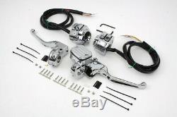 Chrome Handlebar Control Kit fits Harley Davidson evo twin cam 9/16 bore 22-0823