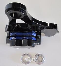 DNA Schwarz 4-piston Bremssattel Hinten Kit für 87-99 Harley Evo Softail Chopper
