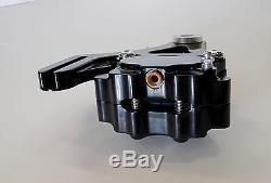 Dna Black 4-piston Rear Brake Caliper Kit For 87-99 Harley Softail Evo Chopper