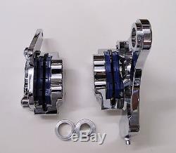 Dna Chrome 4-piston Front & Rear Brake Caliper Kit For 87-99 Softail Evo Harley