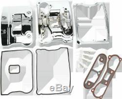 Drag Specialties 1 Chrome EVO Big Twin Rocker Box Kit 84-91 Harley Dyna Touring