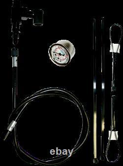 Feuling Black Motorcycle Remote Oil Pressure Gauge Kit for Harley Twin Cam EVO