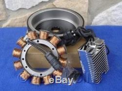 For Harley Heritage Fat Boy Evo 84-99 32 Amp Heavy Duty Alternator Charging Kit