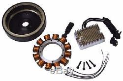 For Harley complete 32 amp Alternator charging kit 70-99 Shovelhead EVO Big Twin