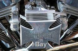 Harley Evo Head Breather Kit Doherty Style West Coast Choppers Black Anodized