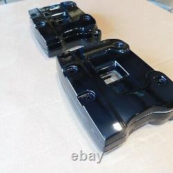 Harley FXR Touring OEM Mirror Black Rocker Box Kit 92-98 Harley Evo Evolution