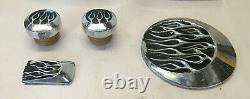 Harley Flame Chrome Cover Kit Set Evo Big Twin Fxr Fxrs Fxrt Fxrc Fxrd Fxlr