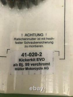 Harley, Müller Kickstart EVO Kit Bj 99 FXST mit Einbauanleitung Chrom NEU