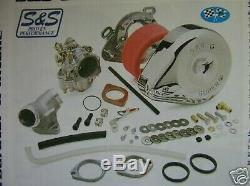 Harley S&S Carb Kit 1993 Thru 1999 Groß Zwilling Evo Brandneu Von S&S Händler