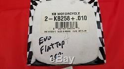 KB Performance KB258+10 Cast Piston Kit (80ci, Flat Top) HARLEY EVO