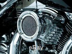 Kuryakyn Velociraptor Chrome Air Cleaner Filter Kit Harley Evo 93-00 Stage 9511