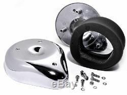 Luftfilter Kit Tear Drop Chrom für Harley Davidson Keihin Bendix Shovelhead Evo