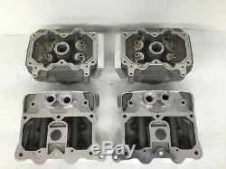 NOS Fueling/Rivera Evo Evolution Nitro Harley 4 Valve Cylinder Heads Kit