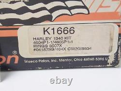 Nos Wiseco 1984-1999 Harley Davidson 1340 Evo Big Twin Piston Kit K1666