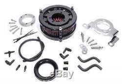 Performance Torque Air Filters Kit for Harley-davidson Big Twin Cam Evo Black