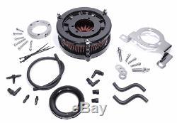 Performance Torque Luftfilter Kit für Harley-Davidson Schwarz Big Twin Cam EVO