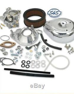 S&S Cycle 11-0446 Super G Shorty Carburetor Kit Teardrop Air Cleaner Evo Harley