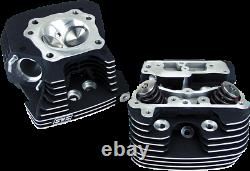 S&S Cycle Black Super Stock Cylinder Head kit for 1984-1999 Harley EVO 90-1504