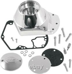 S&S Cycle Polished Billet Cam Cover Kit for 1993-1999 Harley Evo Big 31-0336