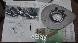 S&S teardrop air cleaner conv kit withrejet 40mm CV Harley XL Evo FXR FXST 91-03