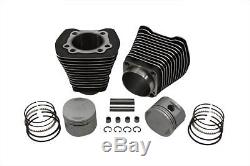 Vtwin Evo Black Cylinder 8.51 Piston Kit Harley 84-98 FXST FLST FXR FLT FXD