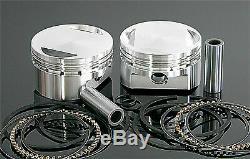 Wiseco K1687 Piston Kit 1214cc Domed. 020in to 3.518in Fits Harley Evo 1200 1100